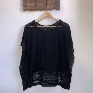 Lucky Brand | Poncho Lace Top